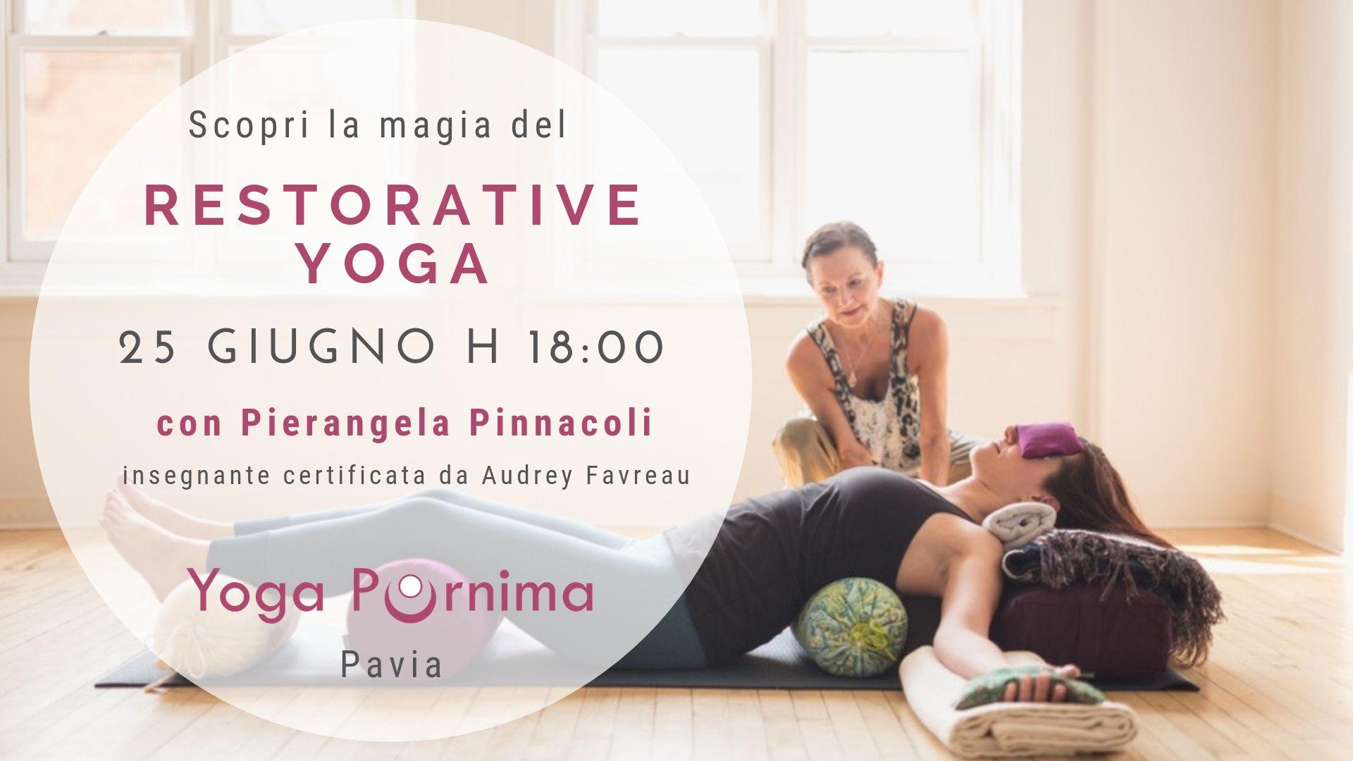 25 giugno: openday di Restorative Yoga