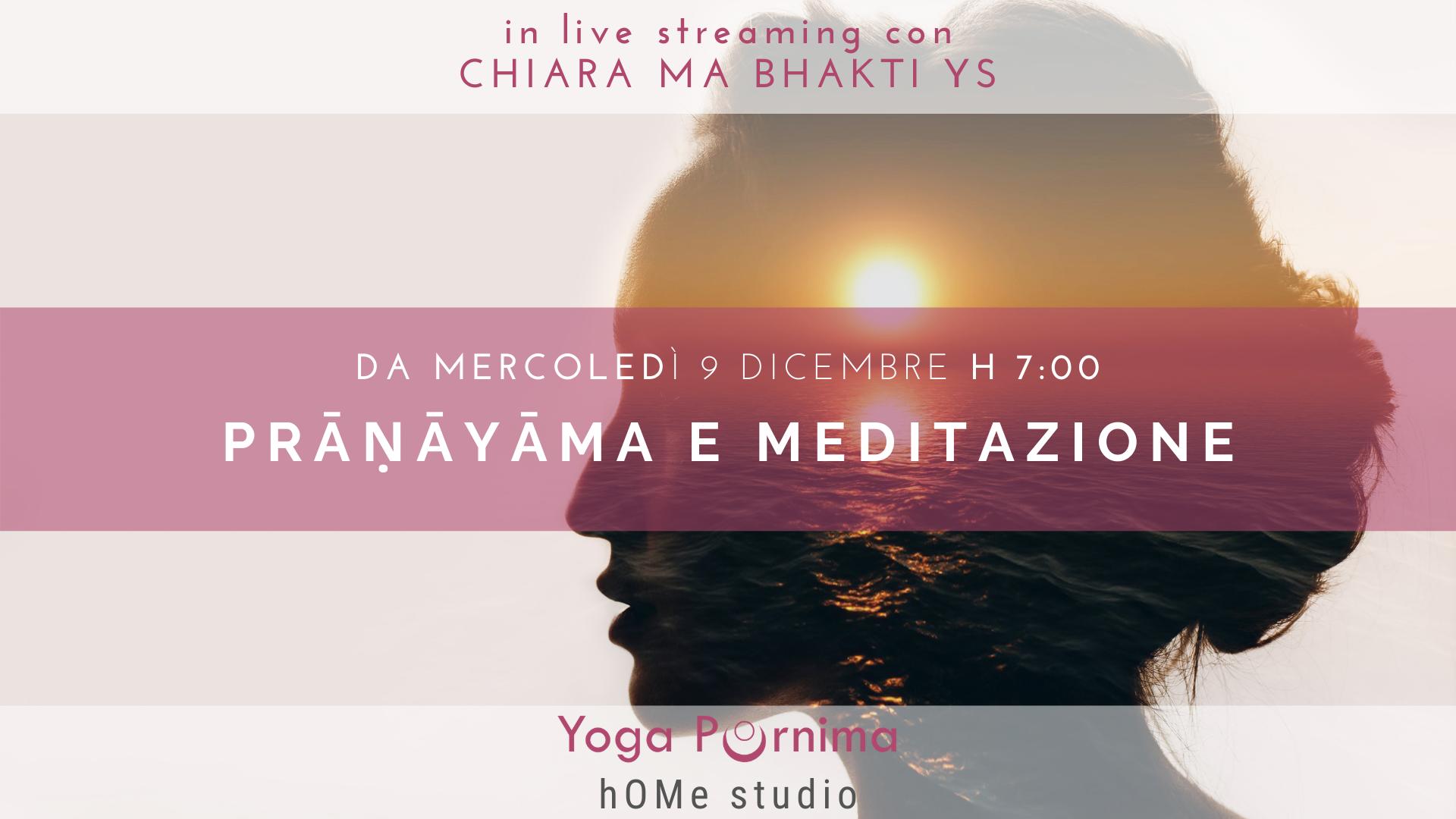 Nuovo corso settimanale di prāṇāyāma e meditazione