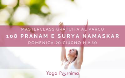 Masterclass gratuita per celebrare il Solstizio d'estate e la Giornata Internazionale dello Yoga